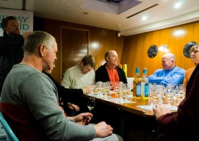 Whisky Tastings Downstairs on the MMD Boat