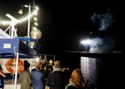 Closing Firework Display with Guests on the MMD Boat