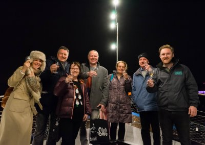 Whisky Tasting Guests on Top Deck